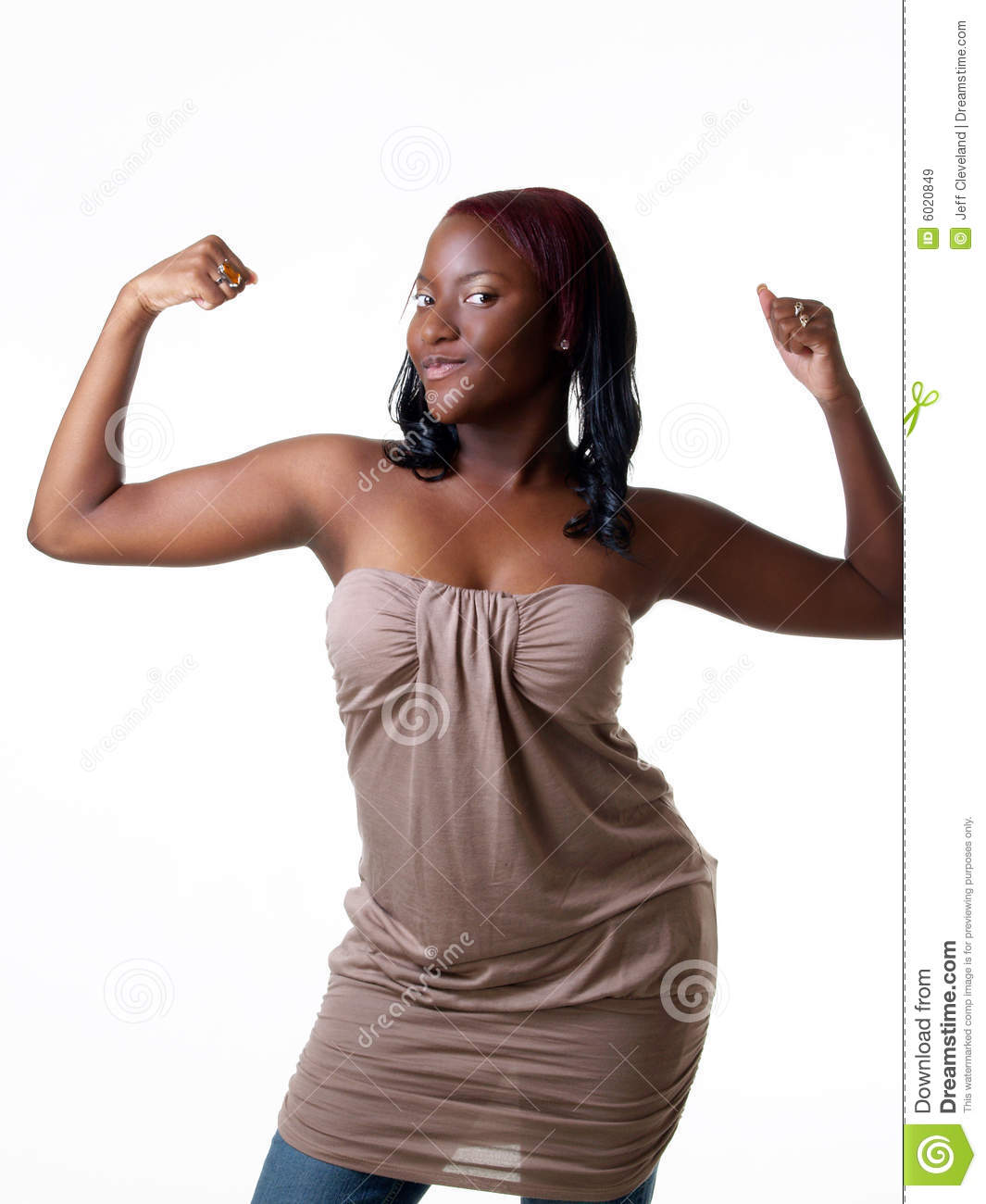 M A African Girl Showing Power