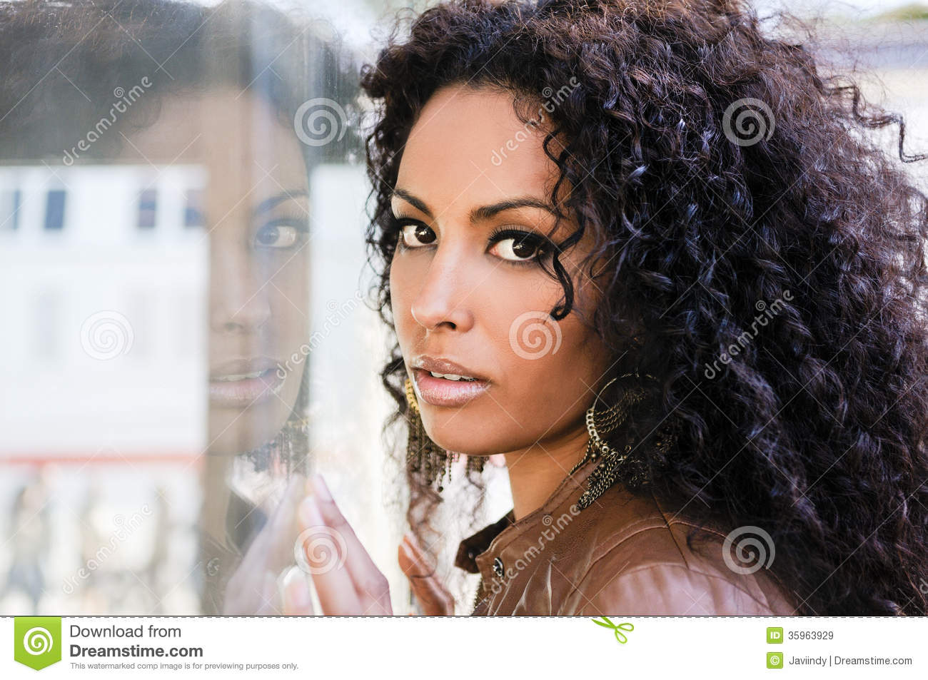 Young Black Woman Afro Hairstyle