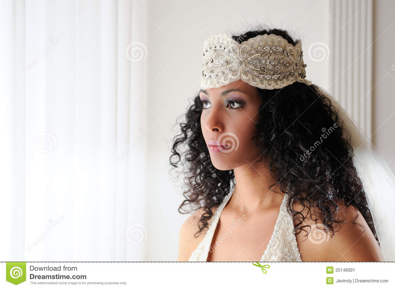 Young Black Woman With Wedding Dress Stock Image - Image of designer ...