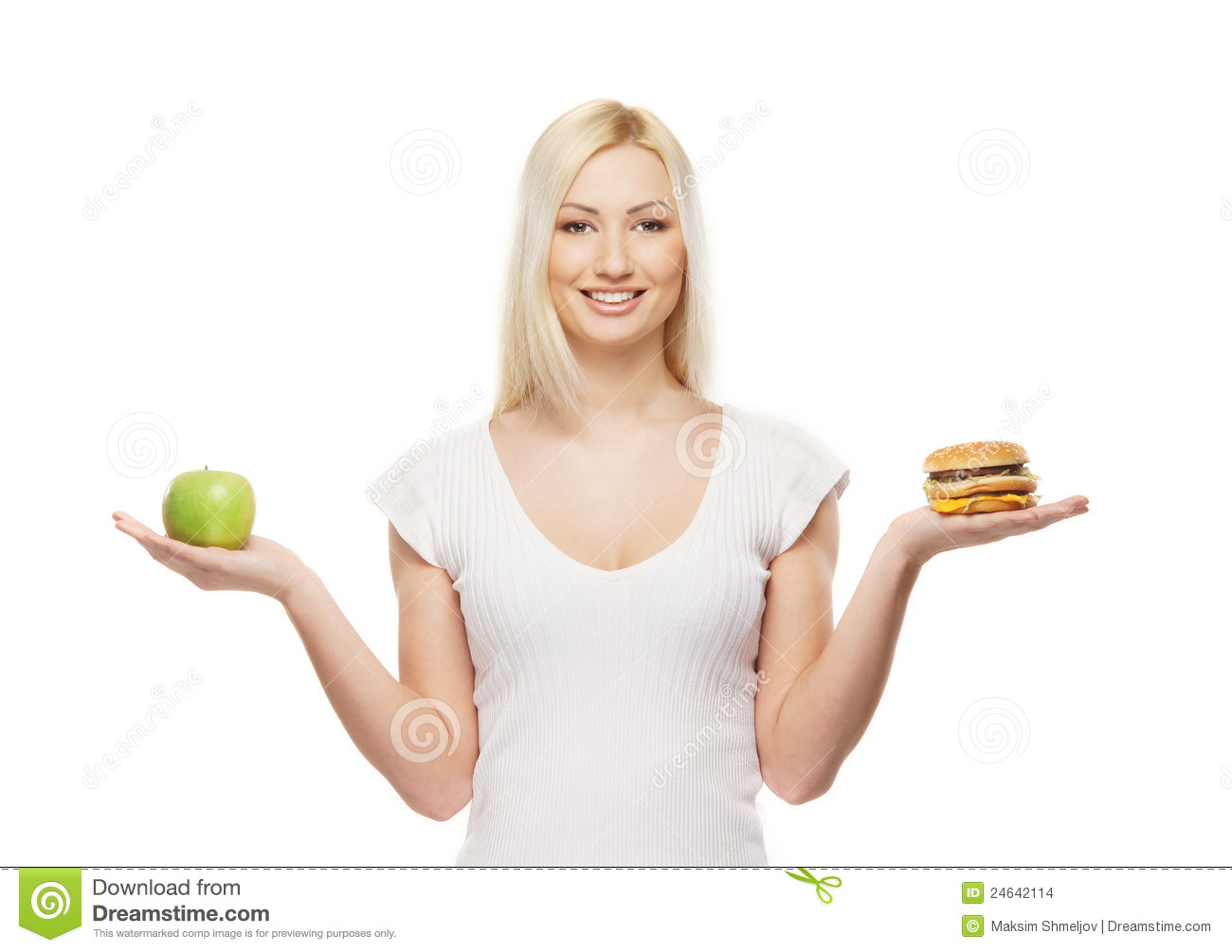 Happy Student Holding Healthy Food