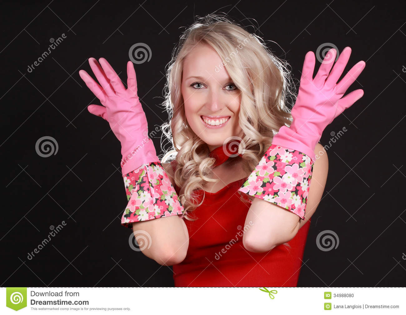 Properties Girls wearing latex gloves
