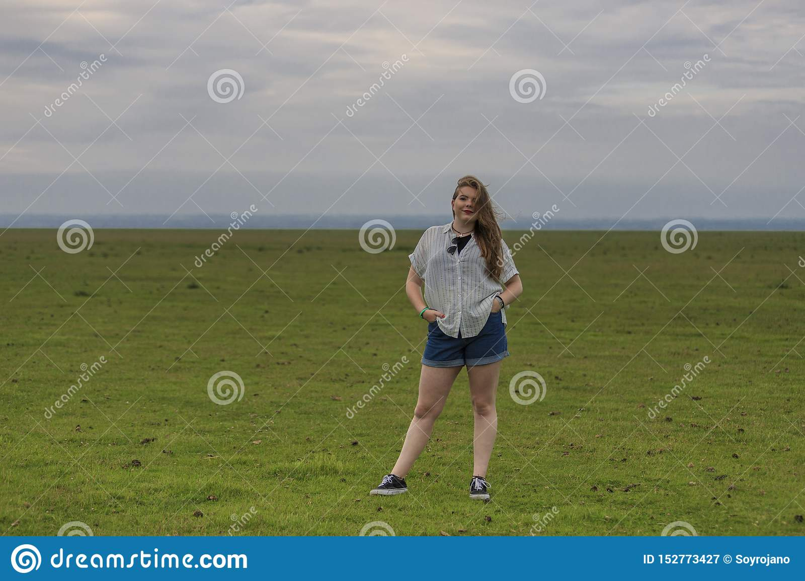 Young blonde in a meadow