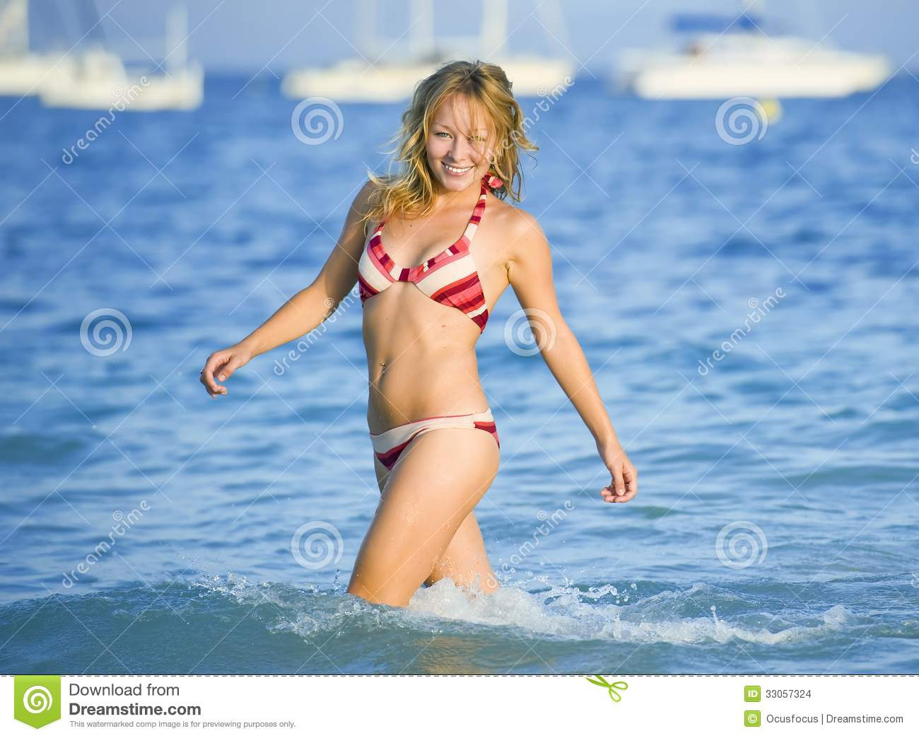 Young Blonde Woman at the Beach