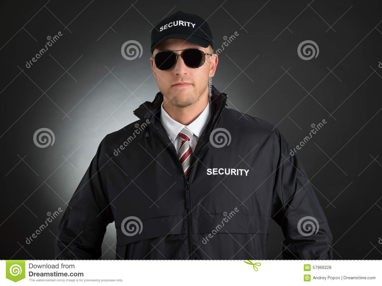 Young Bodyguard In Uniform