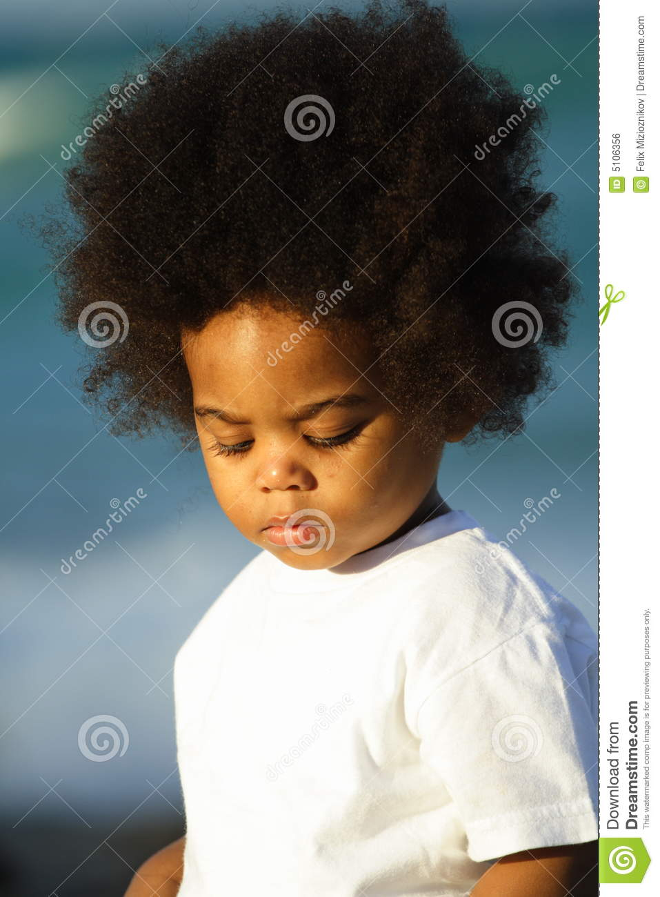 Young Boy With Afro Hairstyle Stock Photo Image Of Body