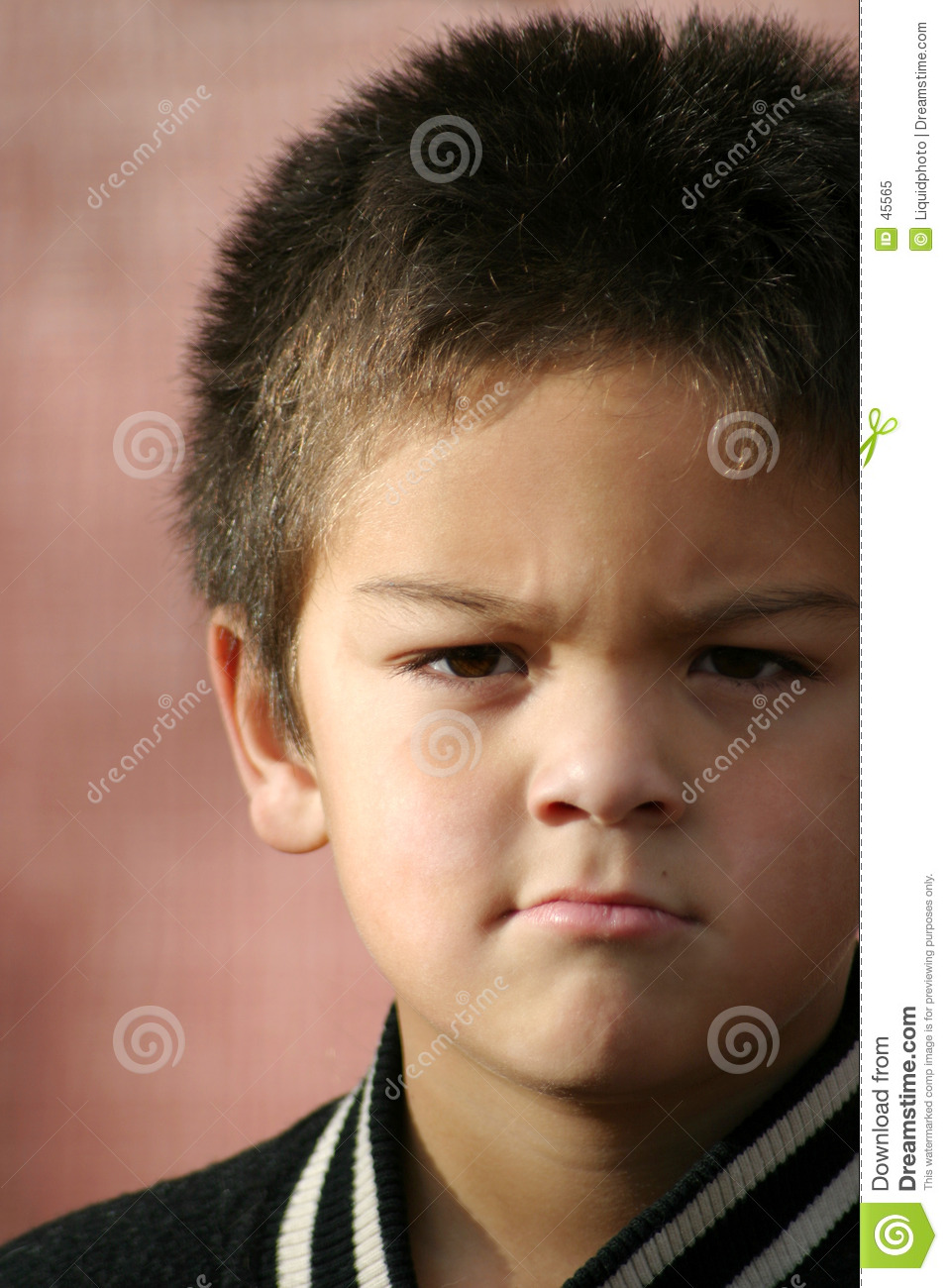 Young Boy Angry Royalty Free Stock Photo Image 45565