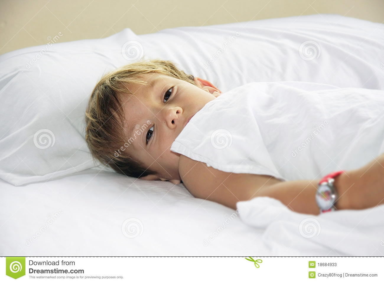 Young Boy In Bed Stock Photos - Image: 18684933