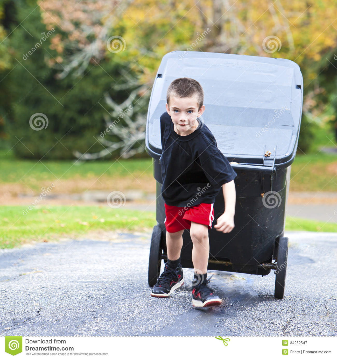 Image result for boy takes out garbage""