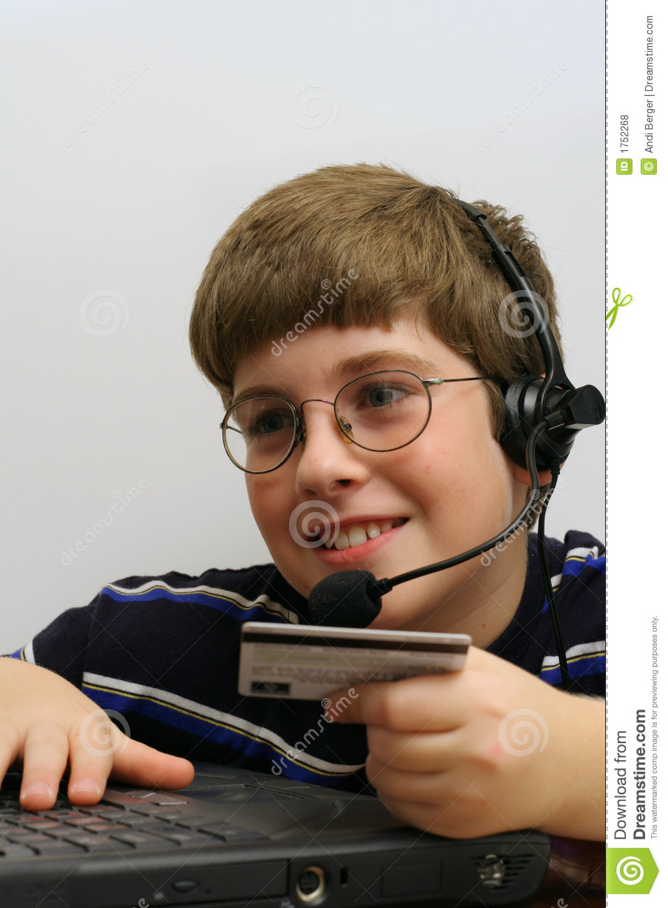 Young Boy On Computer