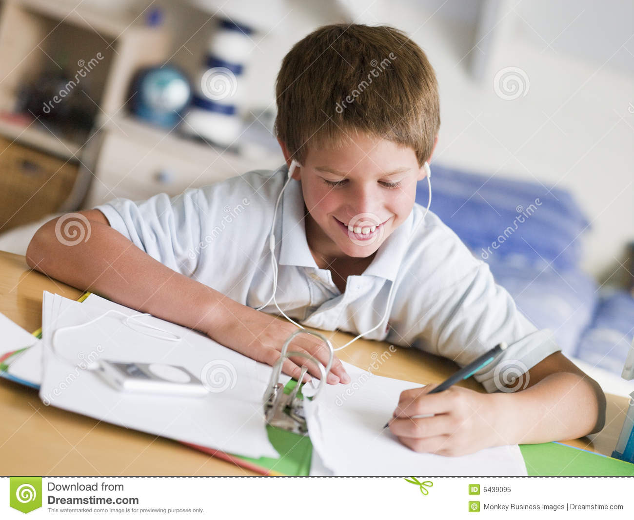Young Boy Doing His Homework Royalty Free Stock Photo ...