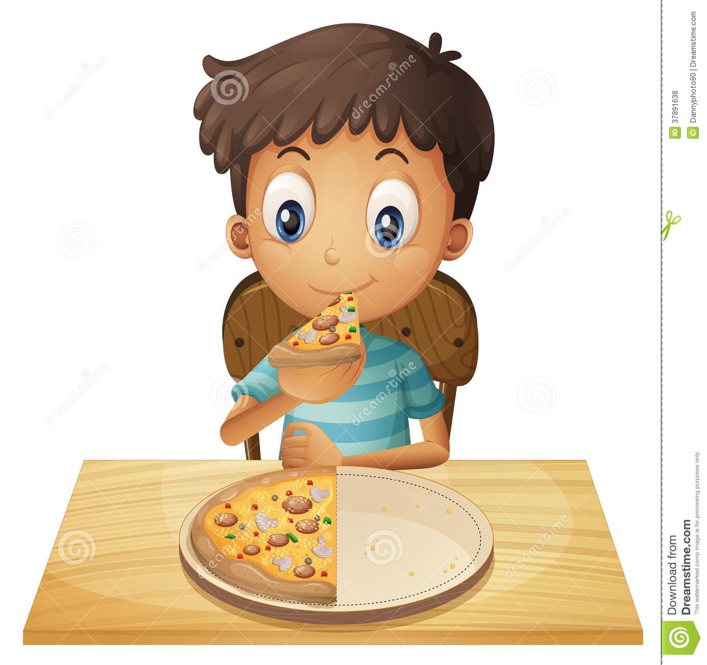 Kids Hold Lunch Tray Clip Art