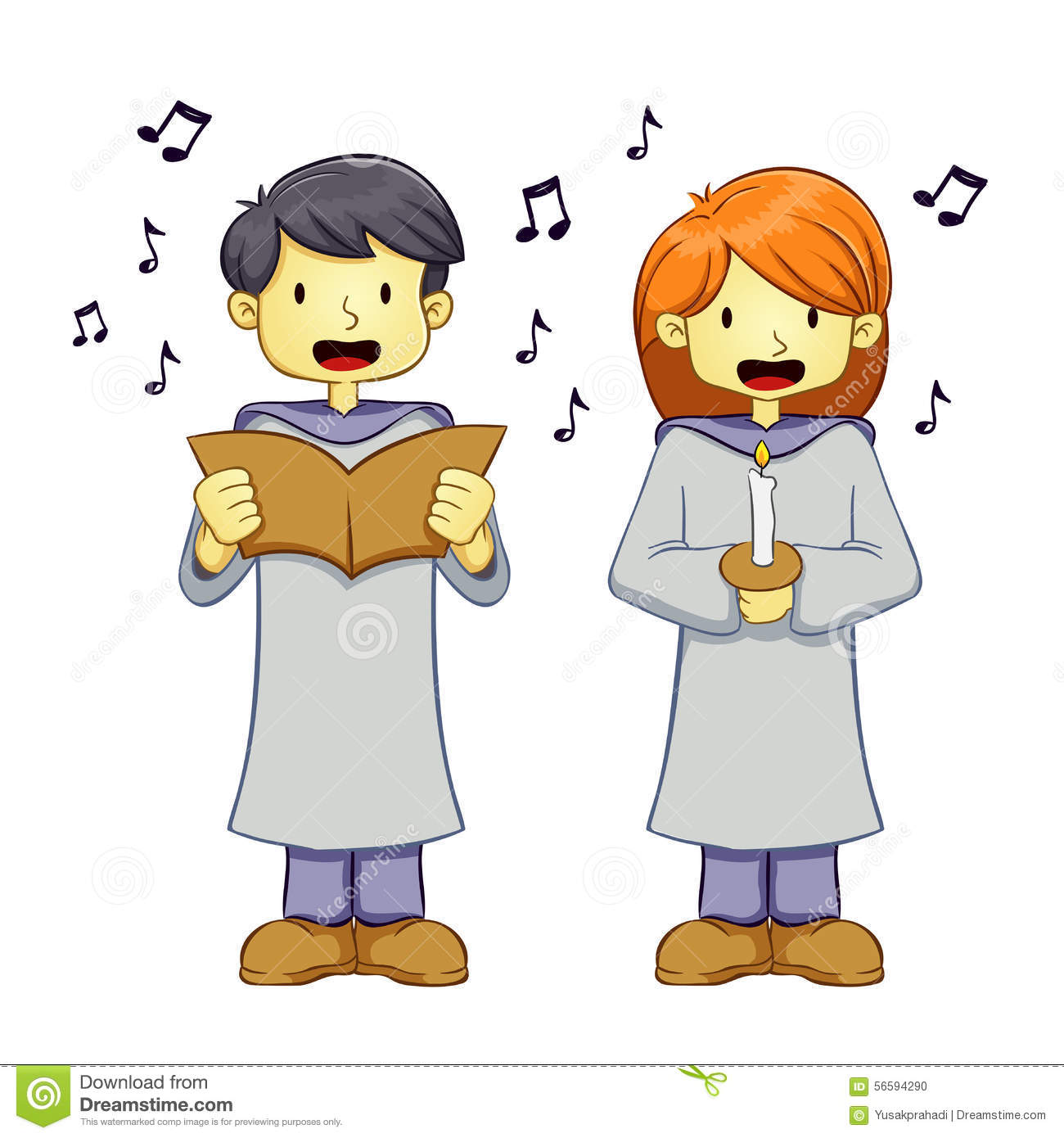 Image result for cartoon girl and boy singing images
