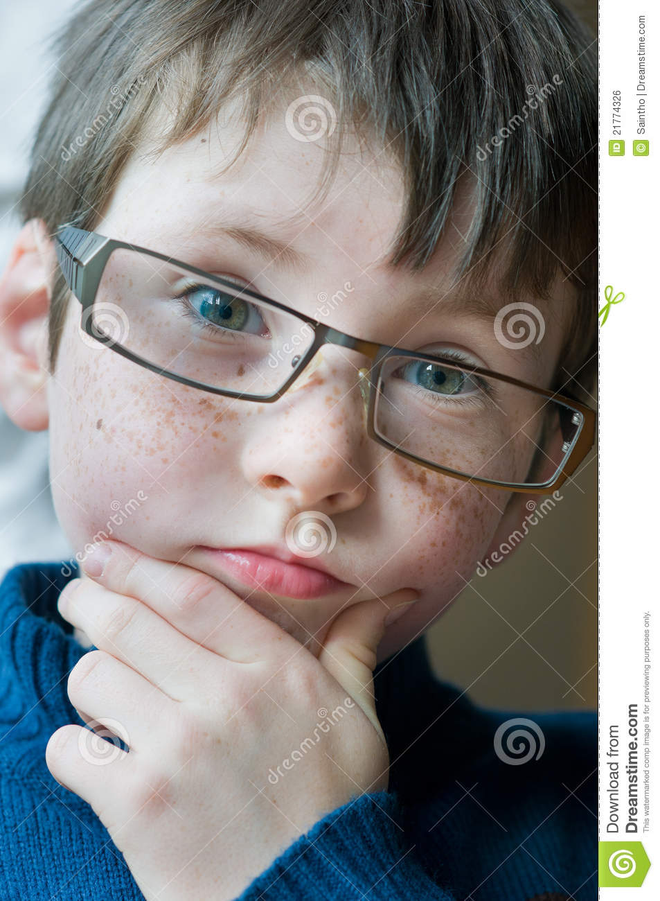 Young Boy With Glasses Royalty Free Stock Image Image