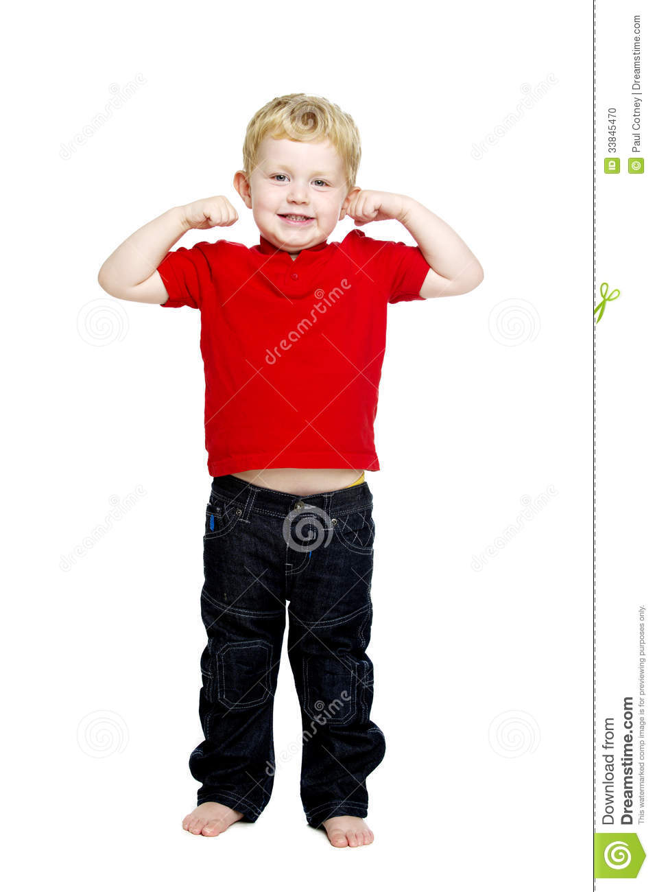 Young Boy Isolated On A White Background Stock Photo ...