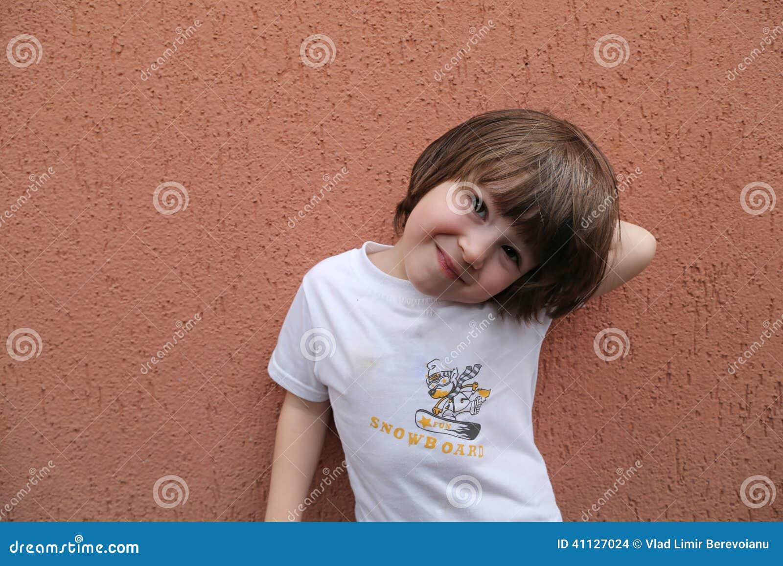 Long Hair Toddler Boy Stock Photo Image Of Background 41127024