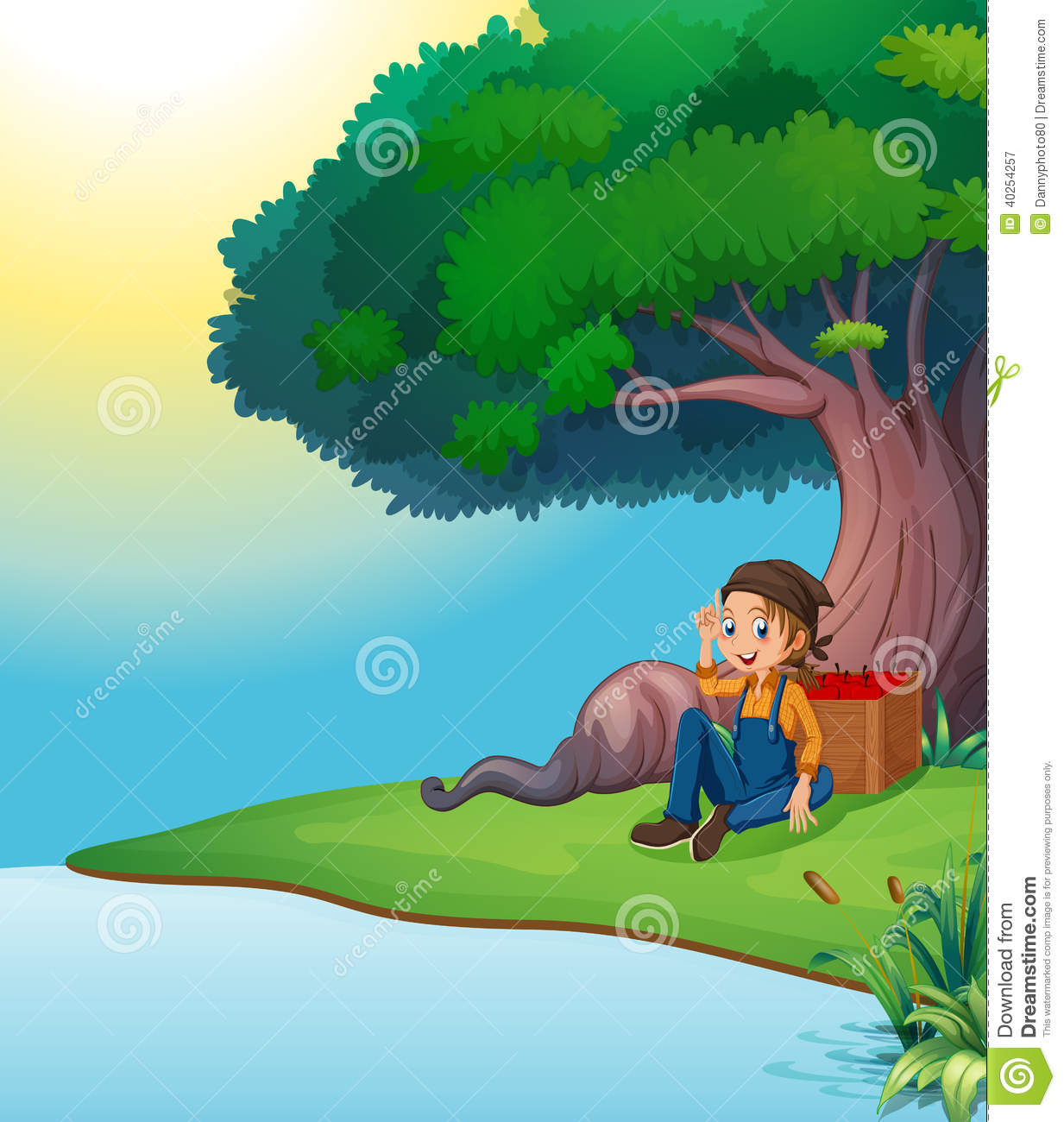 A Young Boy Relaxing Under The Tree Cartoon Vector Cartoondealer Com 40254257 Free for commercial use no attribution required high quality images. cartoondealer com