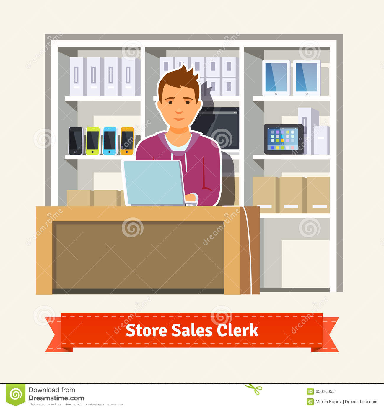 s assistant store customers stock photos images pictures young boy shop assistant royalty stock photo