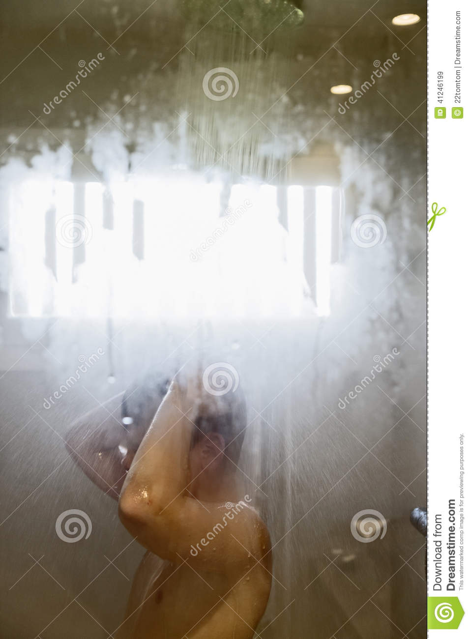 Young Boy Showering Stock Photo - Image 41246199-2383