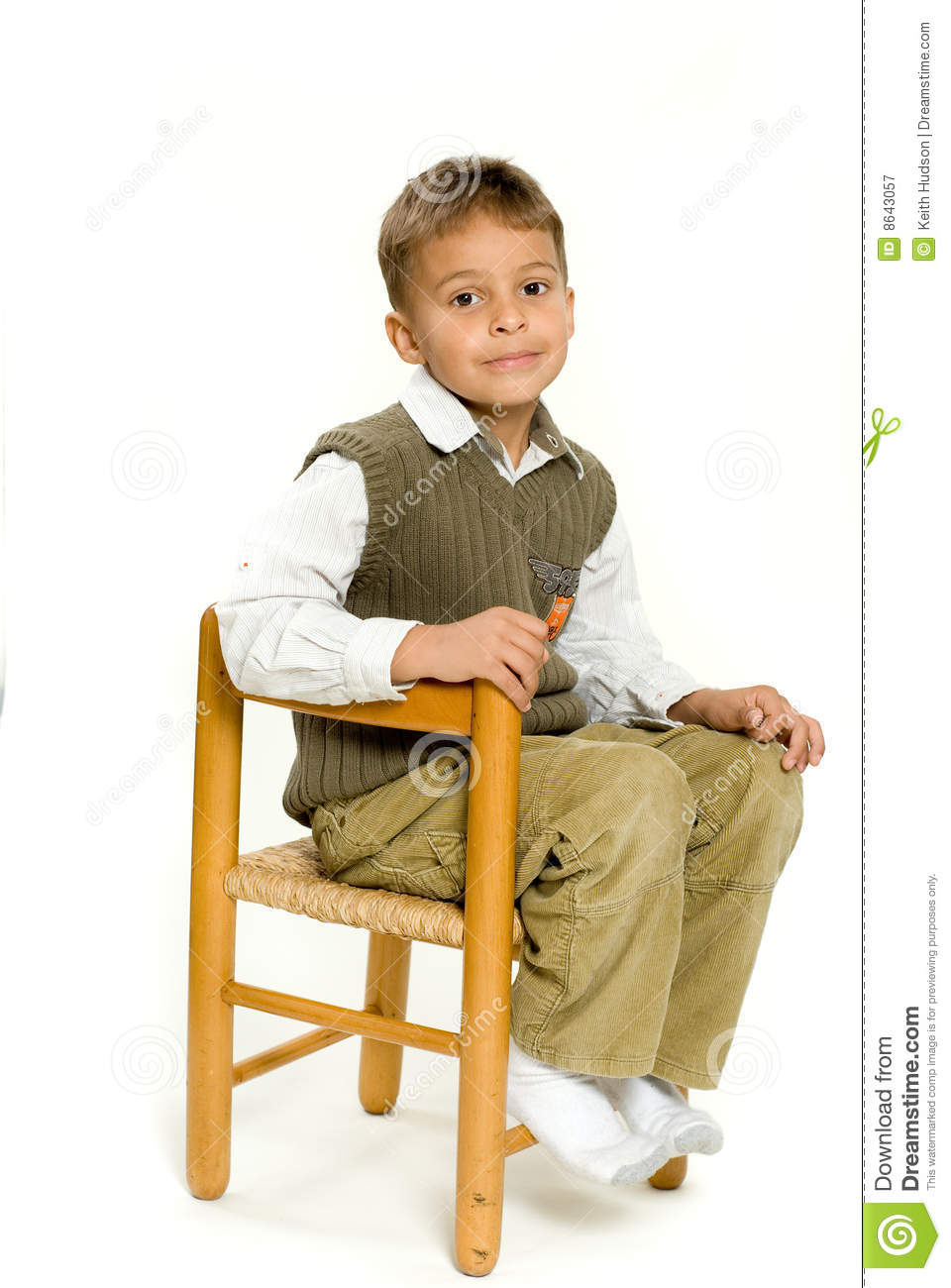 young boy sitting in chair stock image image of sitting 8643057. Black Bedroom Furniture Sets. Home Design Ideas