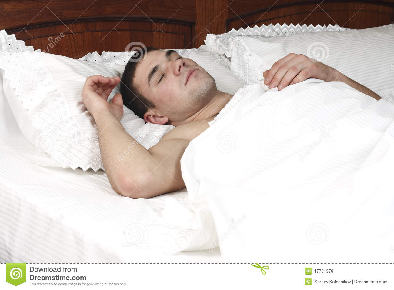 A young boy sleeping in bed royalty free stock photos for Sleeping bed
