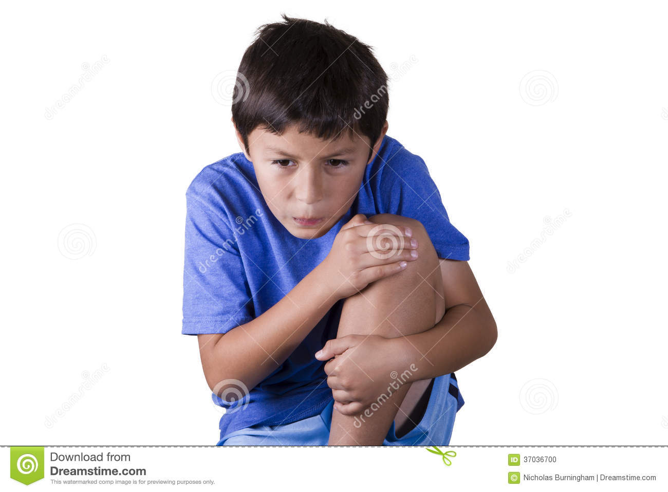 Young Boy With Sore Knee Stock Photo - Image: 37036700