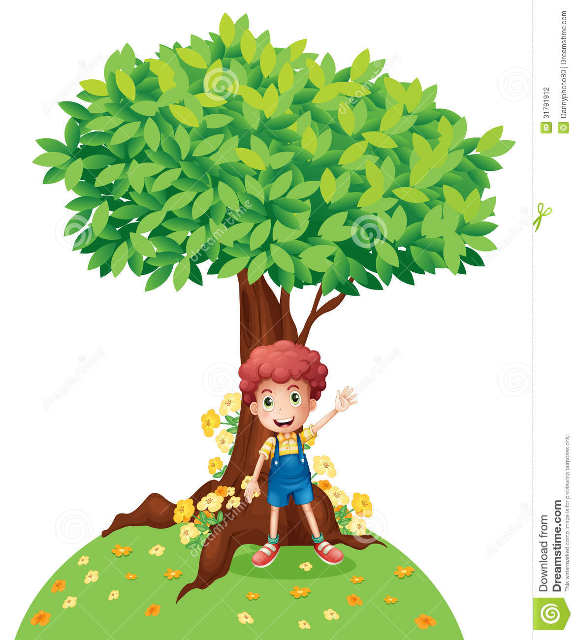 a young boy standing under a big tree stock vector image black natural hair clipart natural hair clip art svg file