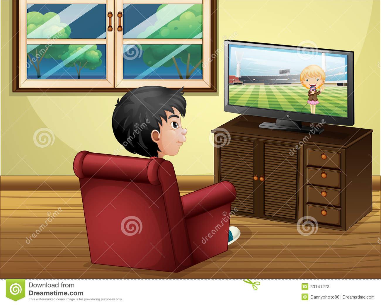 clipart boy watching tv - photo #40