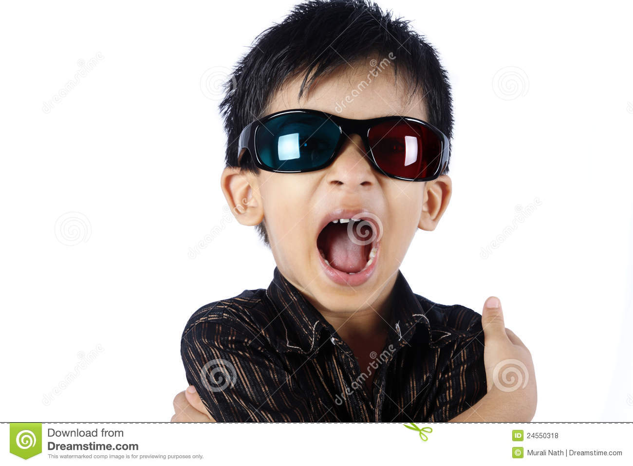 Young Boy Wearing 3d Glasses Royalty Free Stock Photos ...