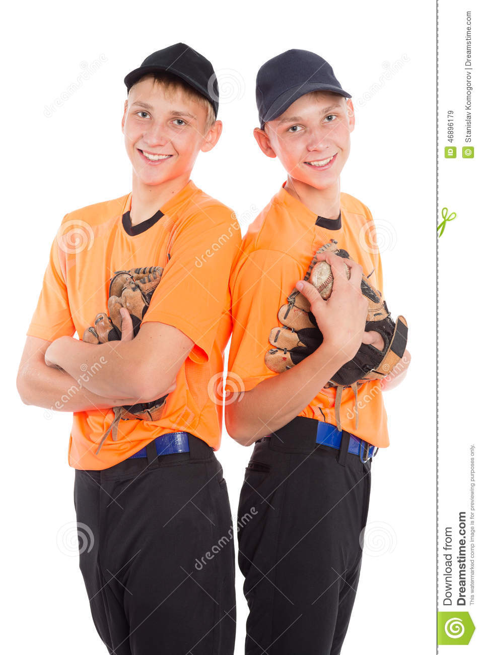 Young Boys In The Form Of A Baseball Game Stock Image ...