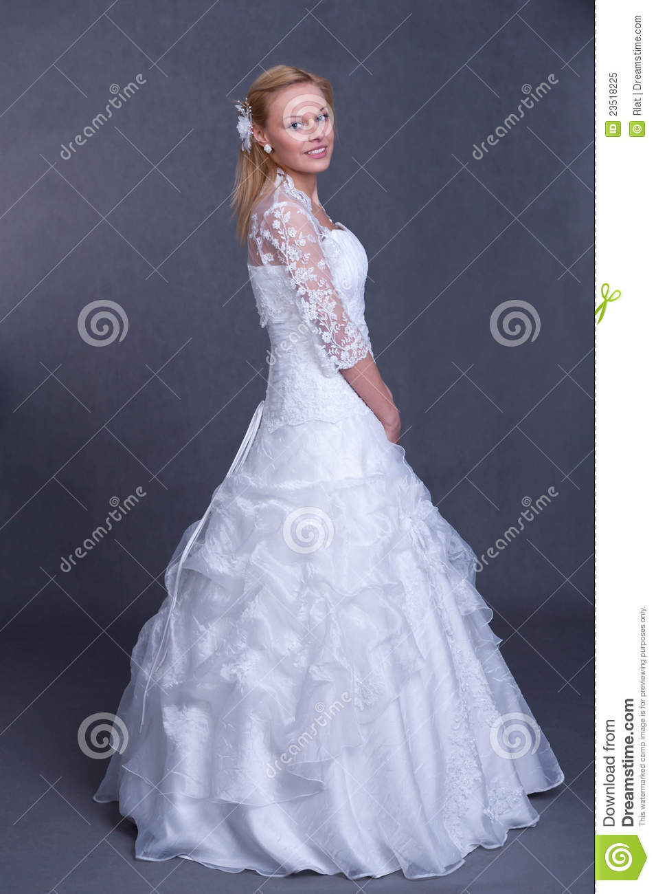 Young bride in wedding dress royalty free stock photo for Wedding dresses for young brides