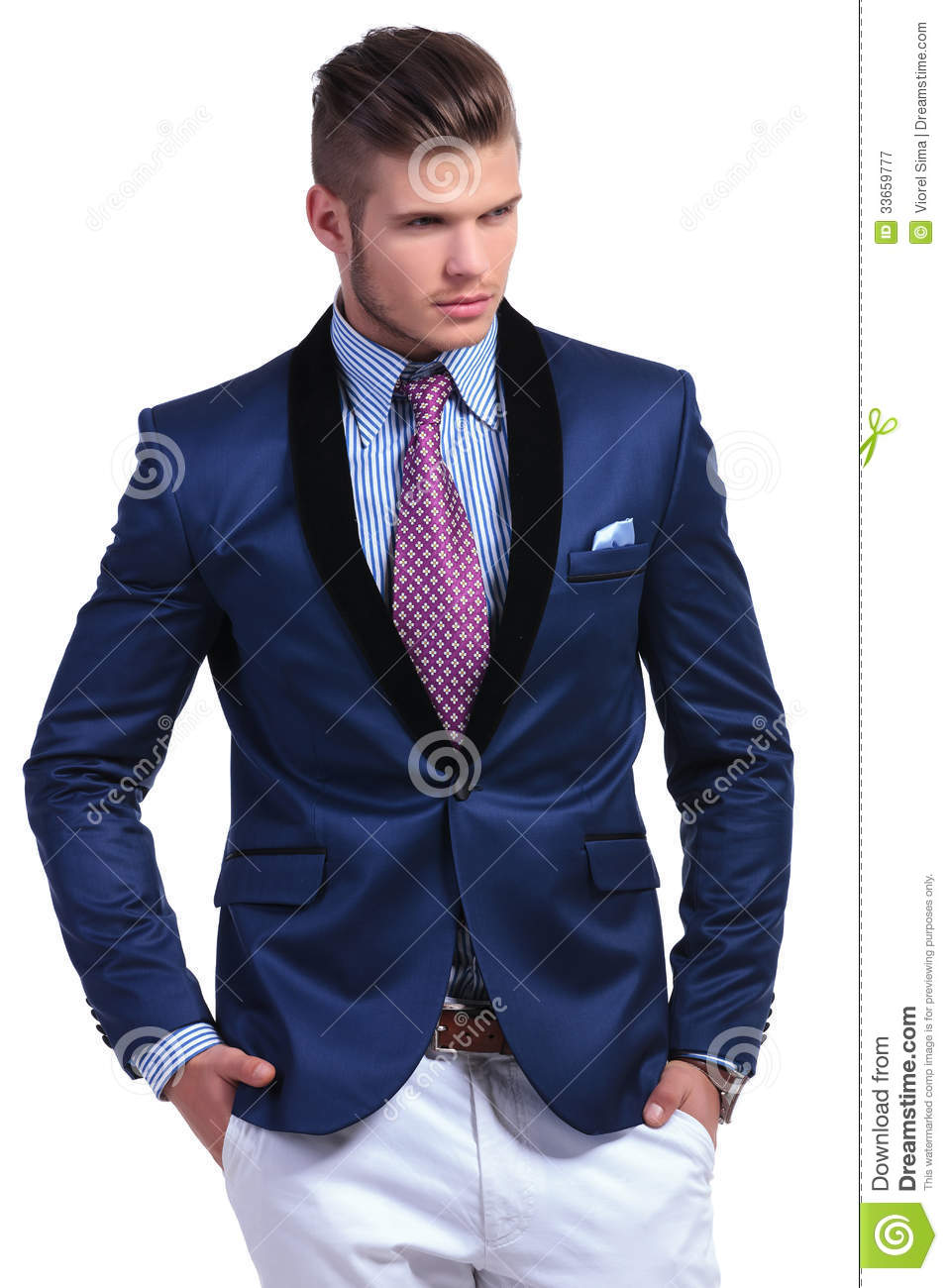 Young Business Man With Both Hands In Pockets Royalty Free