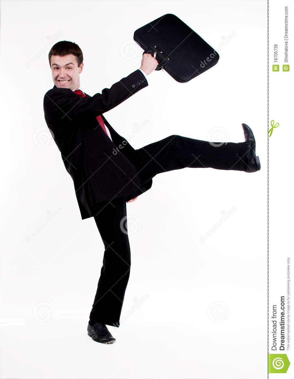 Young Business Man In A Hurry Stock Photo Image Of Hurry