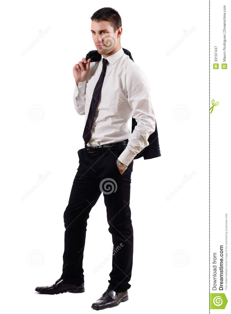 Young Business Man On A Relaxed Pose Stock Image - Image ...