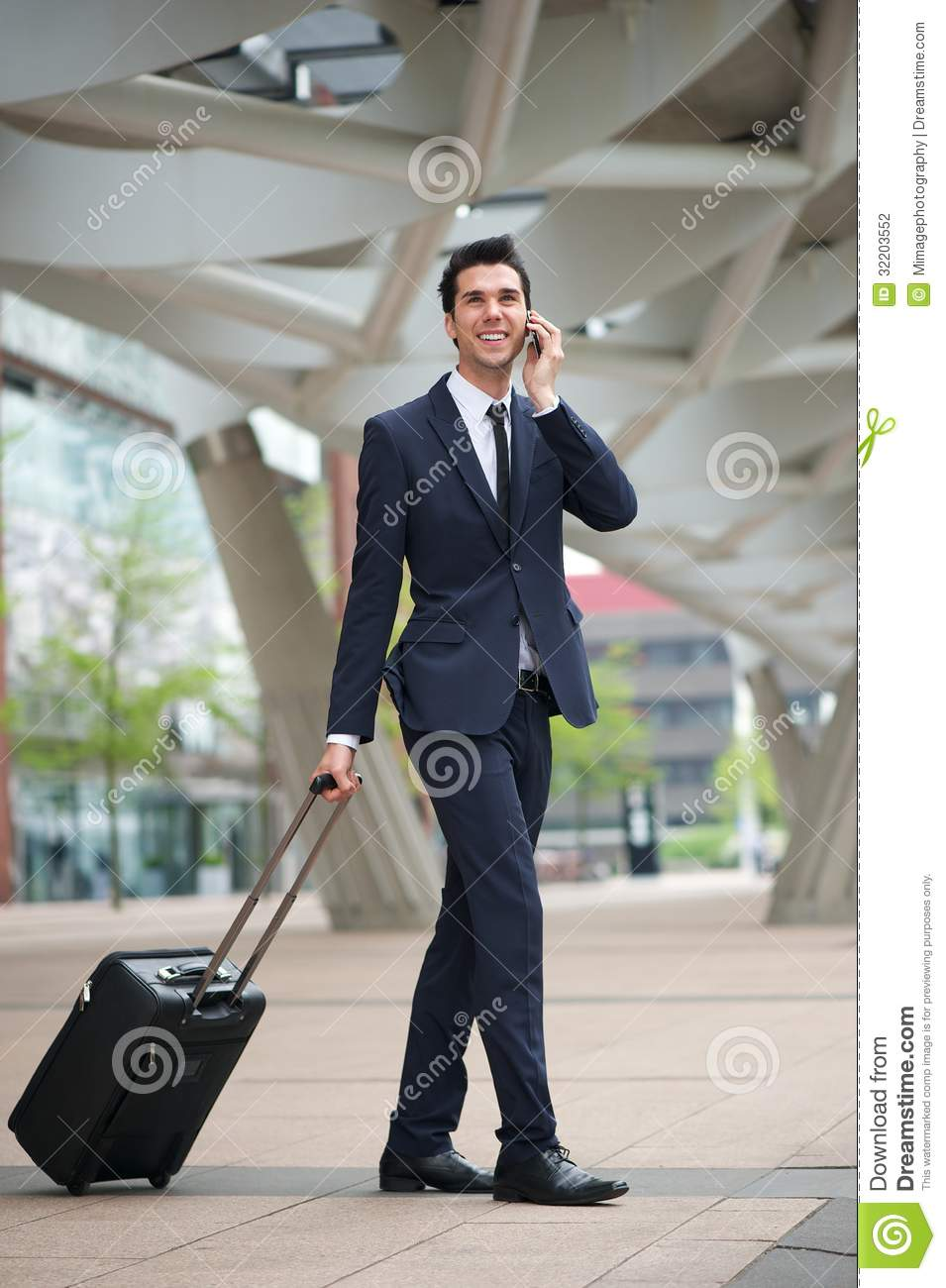 Young Business Man Traveling With Bag Stock Photography - Image ...