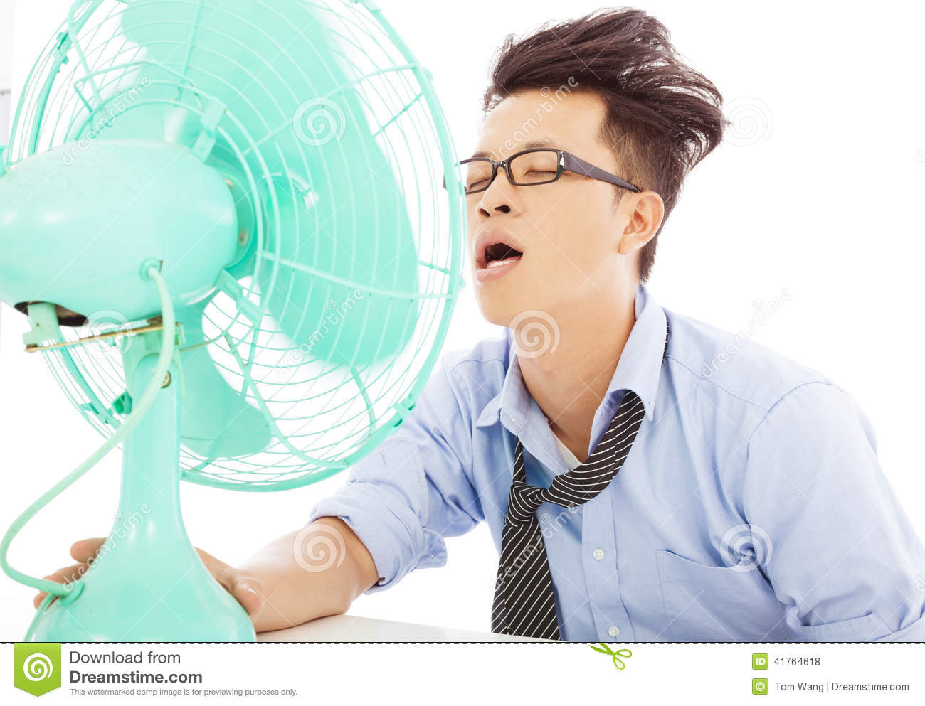 young business man use fans to cool down stock photo image 41764618 High School Graduation Clip Art girls student clipart png