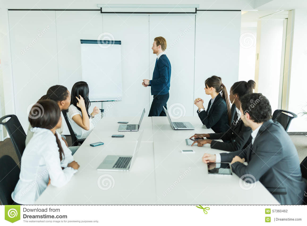 business people learning