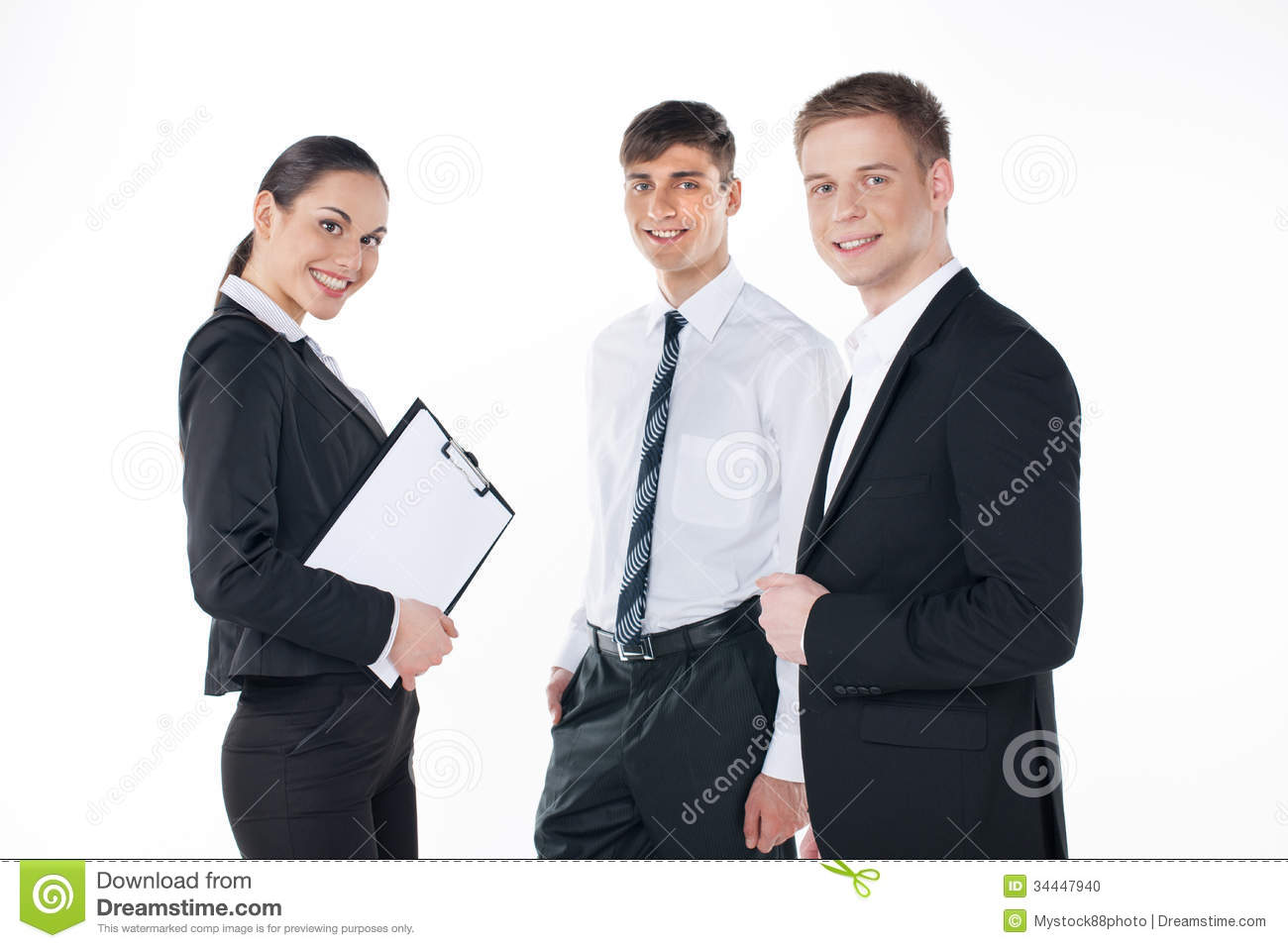 together three standing team business young isolated preview