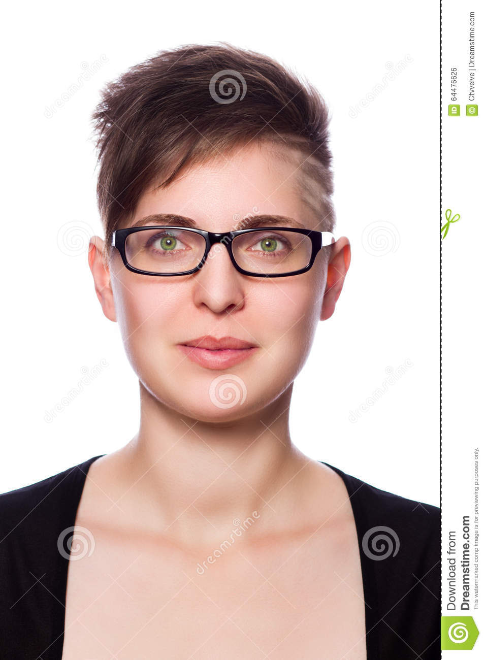 Short hairstyles with glasses - Beautiful Business Glasses Hair Isolated Modern Short