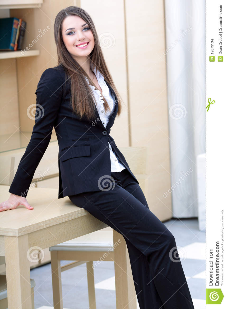 young business woman in office stock images   image 19079134