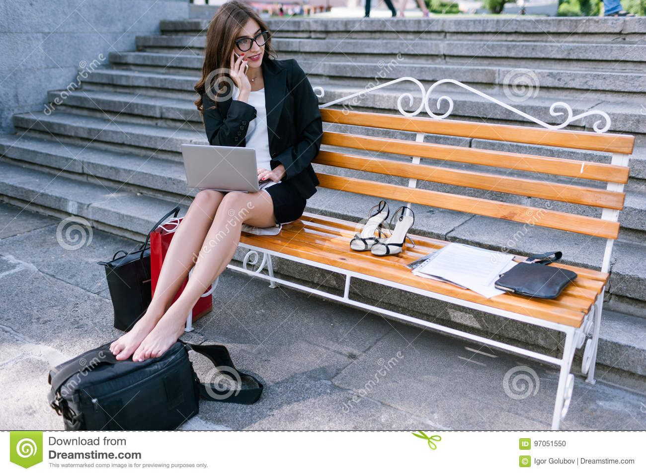 https://thumbs.dreamstime.com/z/young-business-woman-tired-legs-girl-working-street-overworked-secretary-97051550.jpg