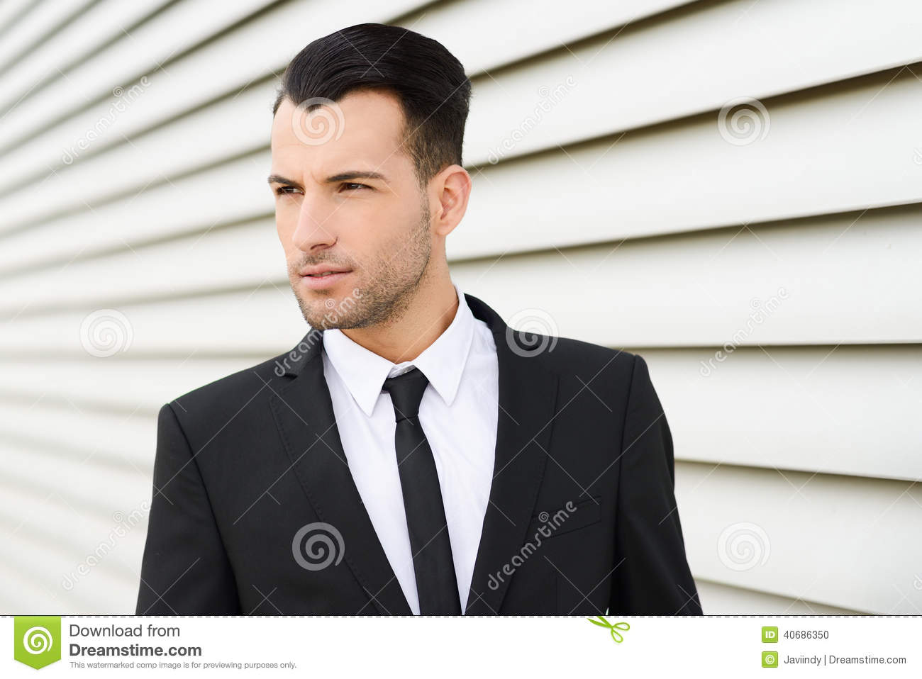 Young Businessman Near A Office Building Stock Photo Image - Businessman haircut