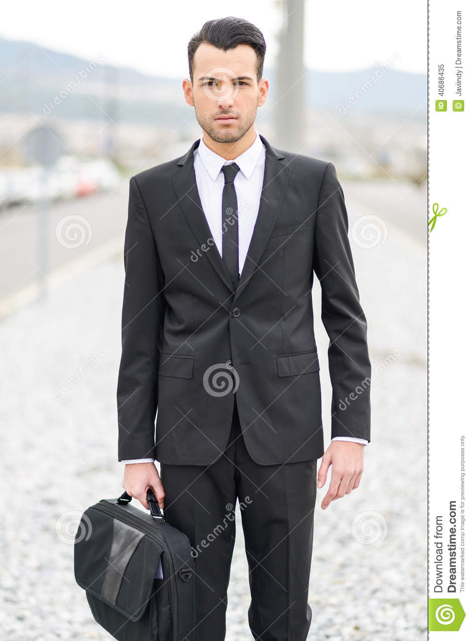 Young Businessman Near A Office Building Stock Photo - Image: 40686435