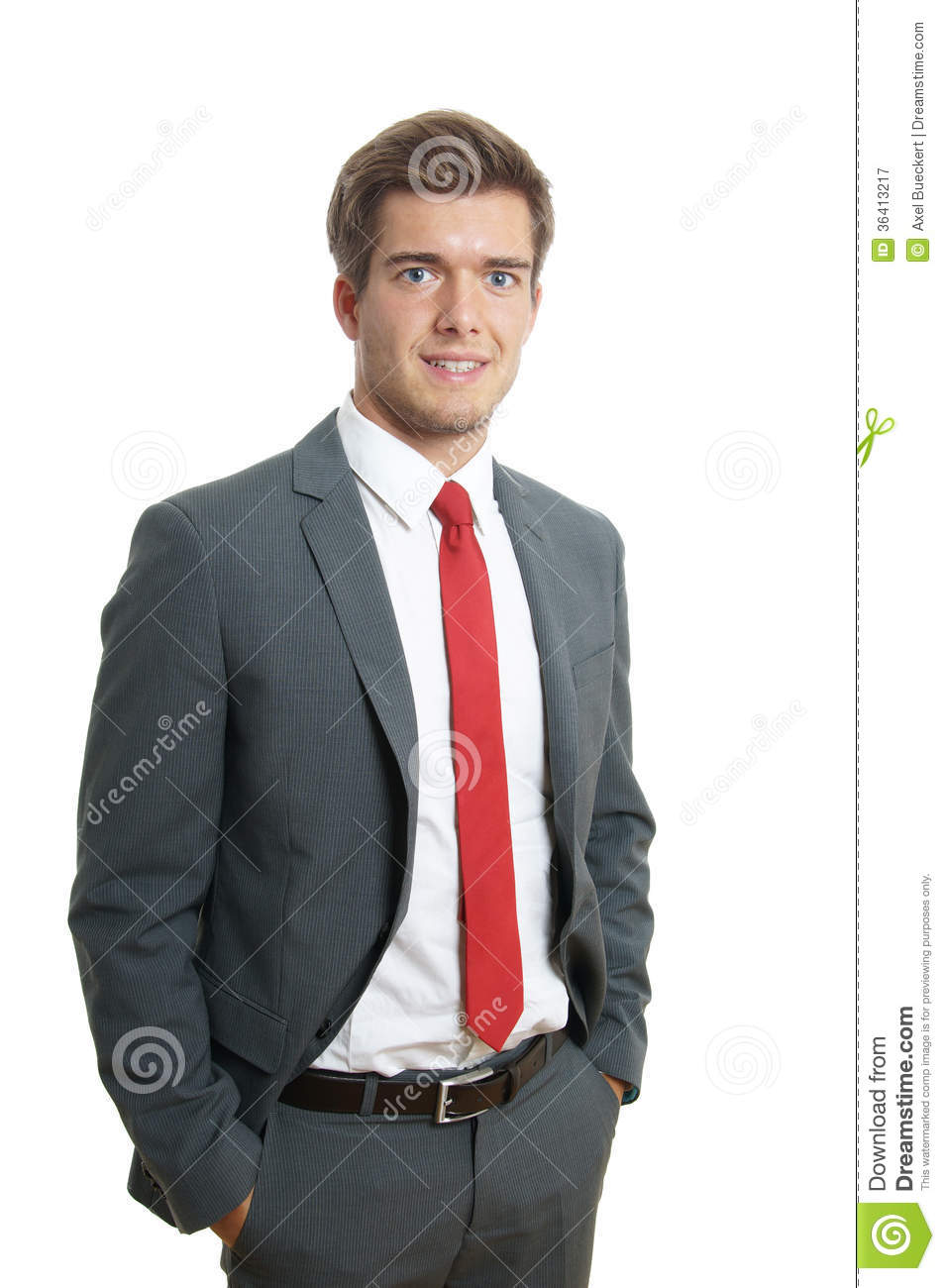 Young Businessman Smiling Royalty Free Stock Photography ...