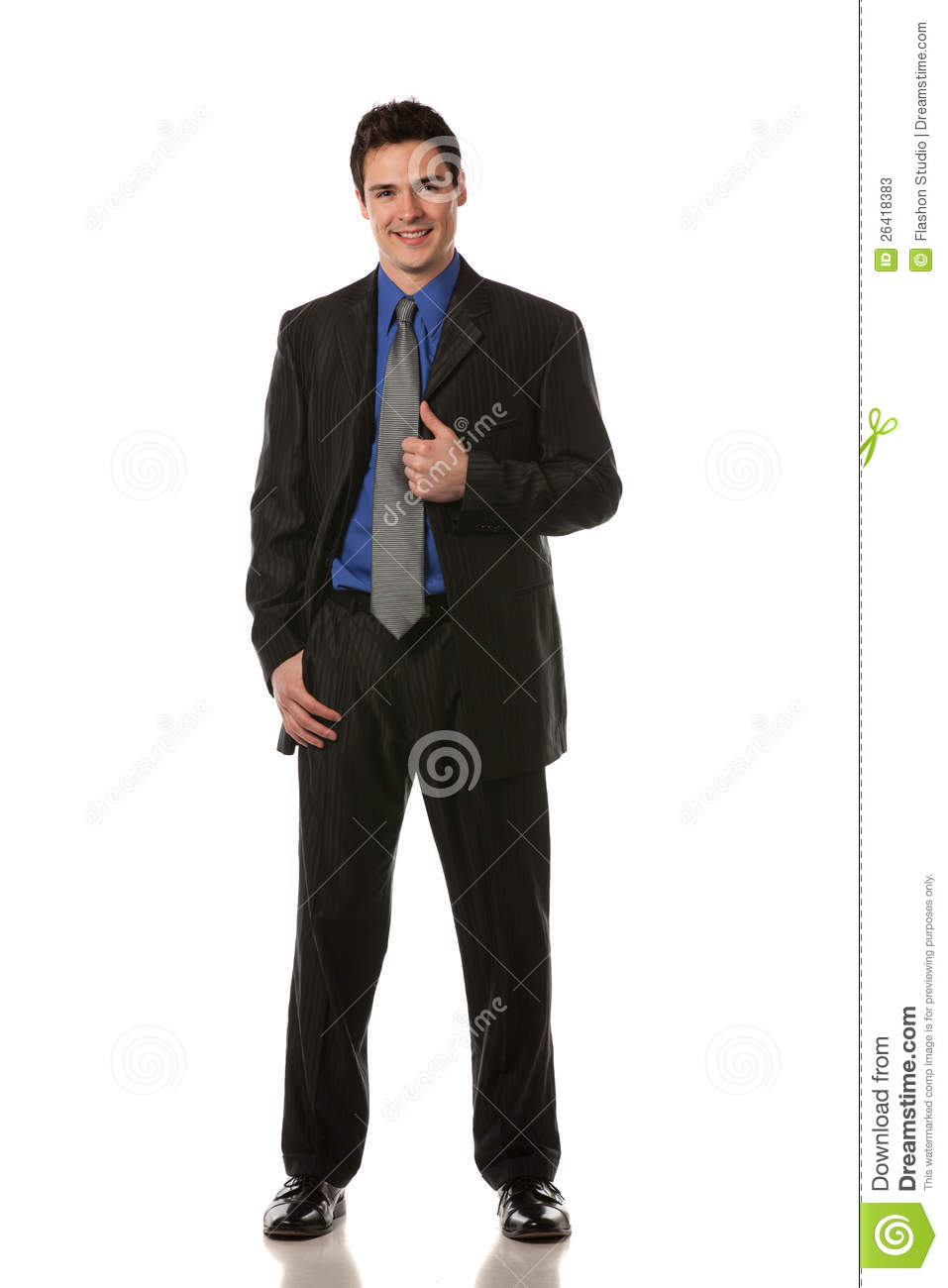 Young businessman standing smiling isolated stock photos image
