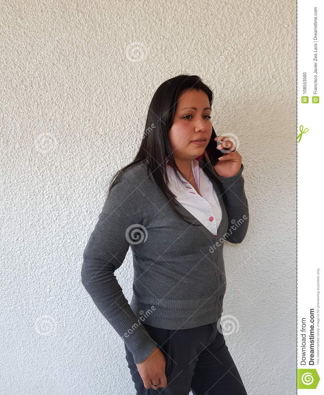 Young Bussines Woman On A Voice Call Stock Photo Image Of Bussines