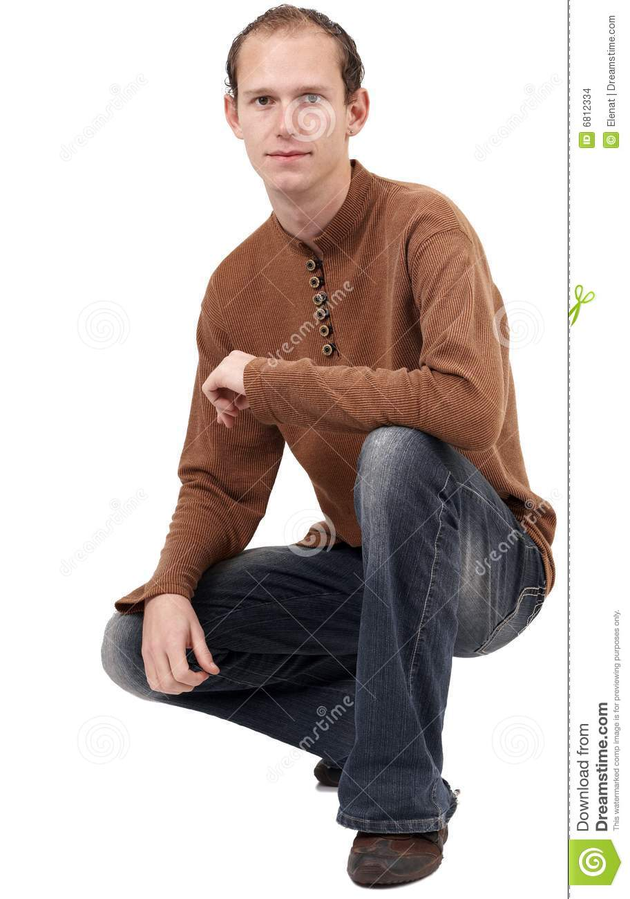 Young Caucasian Man Sitting Down Stock Photo - Image of ...