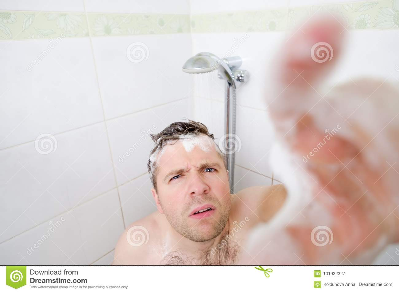 Mature woman spied in the showers