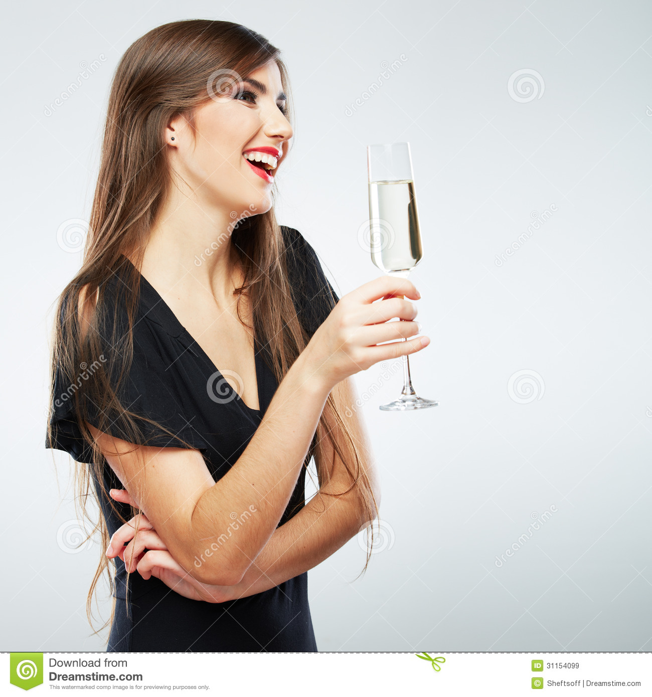 Young celebrating woman stock image. Image of bright ...