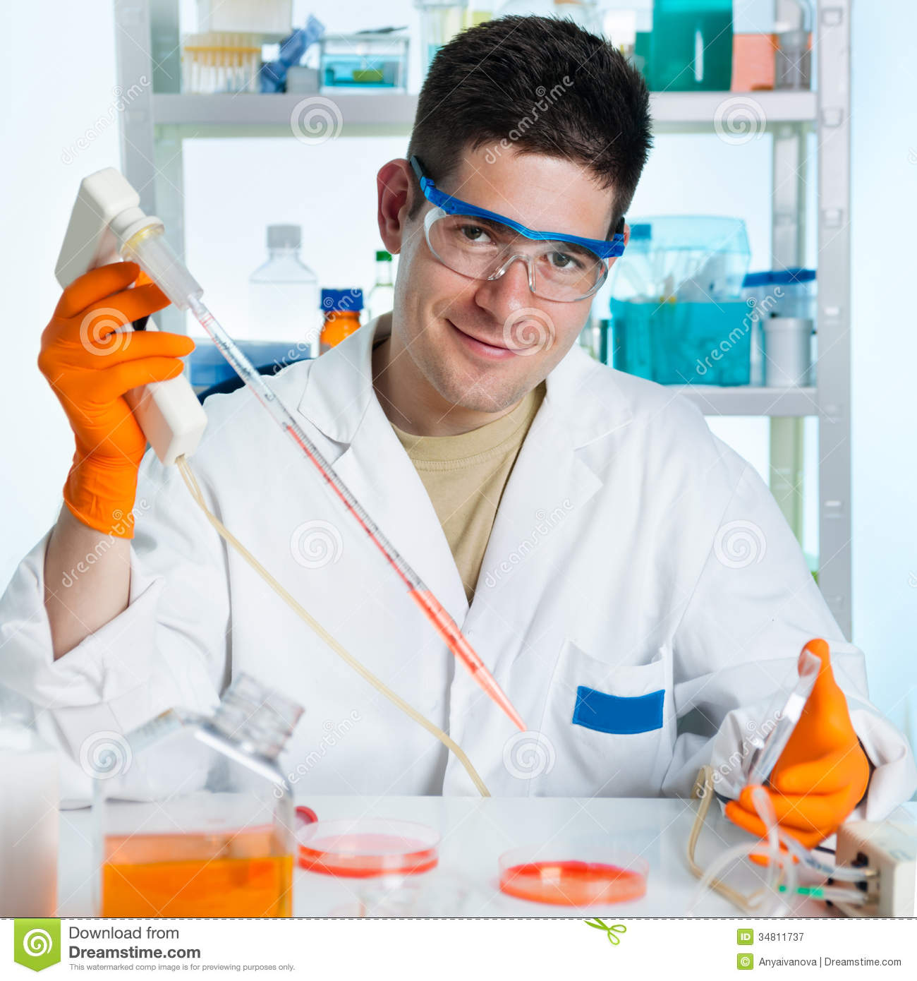 Young Cell Biologist Working Royalty Free Stock ...