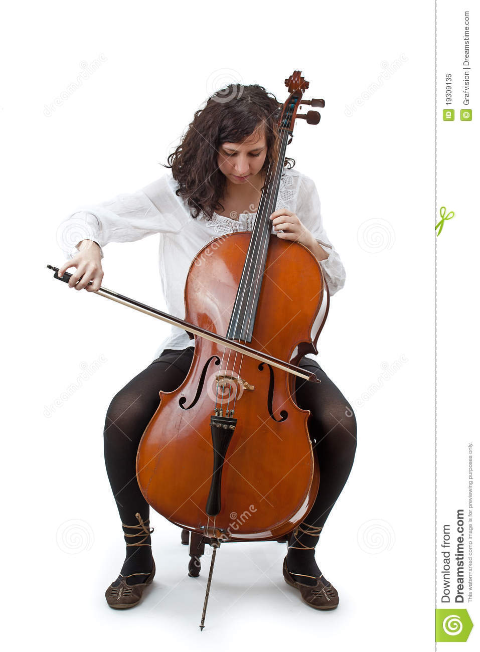Young Cellist Stock Photo Image Of Beauty Alone Female